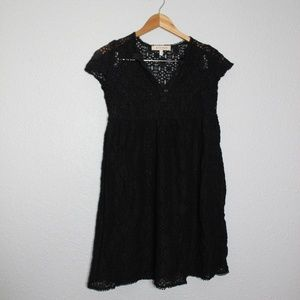 See by Chloe Black Lace Babydoll Overlay Dress 4